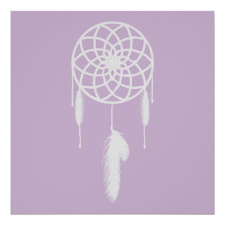 Pastel Purple Dream Catcher Poster
