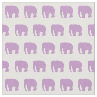 Pastel Purple Elephant Fabric, Nursery Fabric