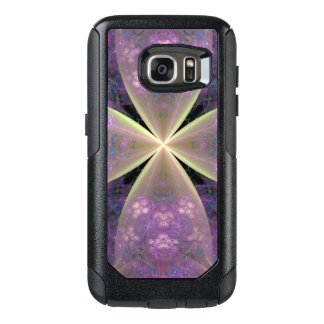 Pastel Purple Floral Cross of Christ OtterBox Samsung Galaxy S7 Case