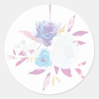 Pastel Purple Floral Watercolor Sticker