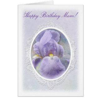 Pastel Purple Iris Birthday Card