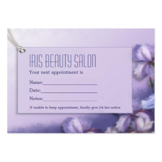 Pastel Purple Iris Floral Gift Certificate Pack Of Chubby Business Cards