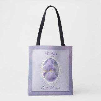 Pastel Purple Iris Mother's Day Tote Bag