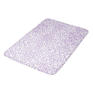 Pastel Purple Leopard Kawaii Animal Print Bath Mat