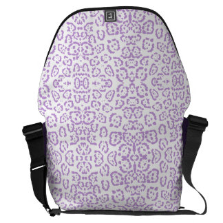Pastel Purple Leopard Kawaii Animal Print Commuter Bags