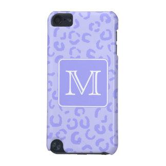 Pastel Purple Leopard Print. Custom Monogram. iPod Touch 5G Case