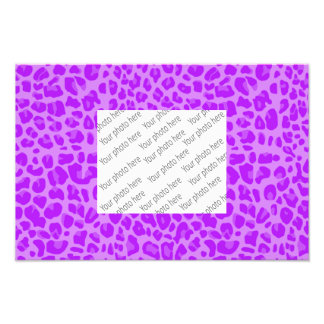 Pastel purple leopard print pattern photo art