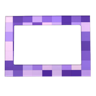 Pastel purple squares magnetic photo frame