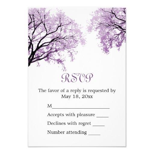Pastel Purple Trees - RSVP Card