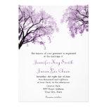 Pastel Purple Trees - Wedding Invitations