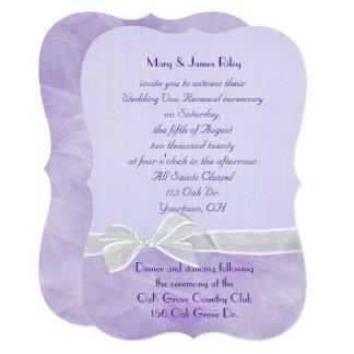 pastel purple Wedding Vow Renewal Ceremony Card