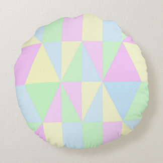 Pastel Pyramid Round Cushion