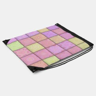 pastel quilt 1(I) Drawstring Bag
