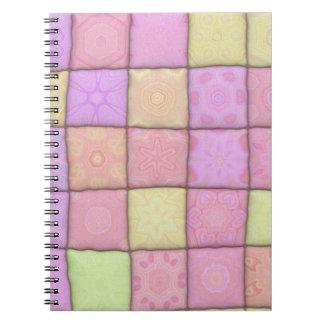 pastel quilt 1(I) Spiral Notebook