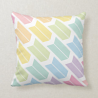 Pastel Rainbow Arrow Feather Chevron Pattern Cushion