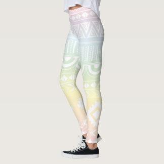Pastel Rainbow Aztec Design Leggings