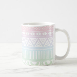 Pastel Rainbow Aztec Design Mug