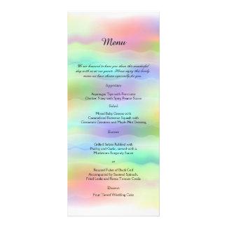 Pastel Rainbow Brides Wedding Menu