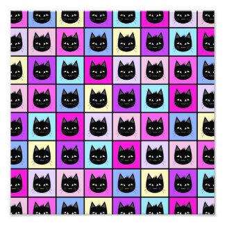 Pastel Rainbow Cat Pattern Art Photo