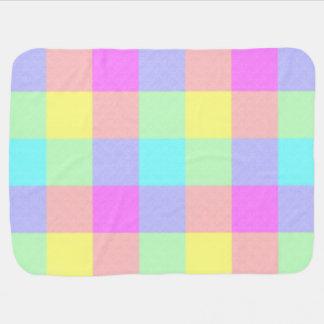 Pastel Rainbow Checkered Baby Blanket