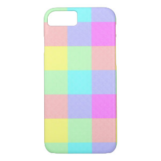 Pastel Rainbow Checkered iPhone 7 Case