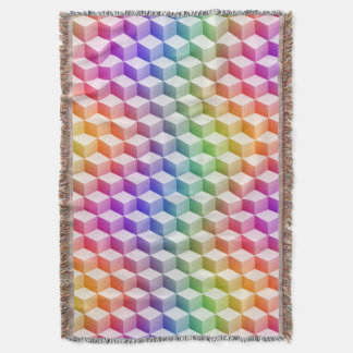 Pastel Rainbow Colored Shaded 3D Look Cubes