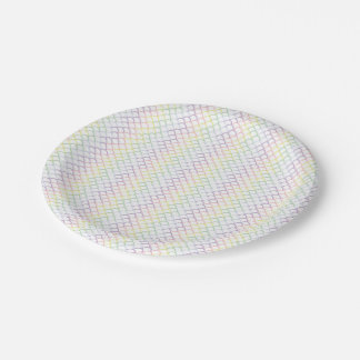 Pastel Rainbow Dragon Scales Paper Plate