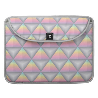 Pastel Rainbow Geometric Triangles Macbook Sleeve