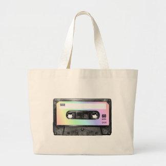 Pastel Rainbow Label Cassette Jumbo Tote Bag