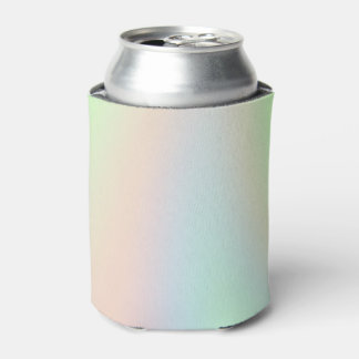 Pastel Rainbow of Color Can Cooler