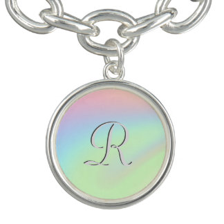 Pastel Rainbow of Color Initialed