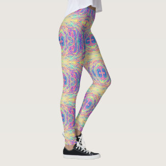 Pastel Rainbow Oil Slick Leggings Van Life