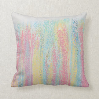 Pastel Rainbow Pink Blue Yellow White Colourful Cushion