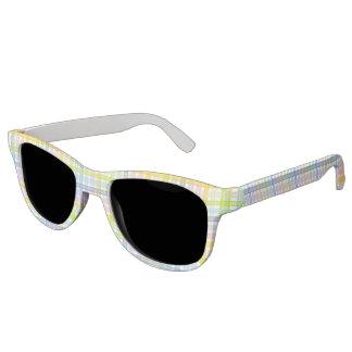 Pastel Rainbow Plaid Sunglasses