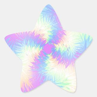 Pastel Rainbow Pompom Star Sticker