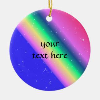 Pastel rainbow pretty round ceramic decoration