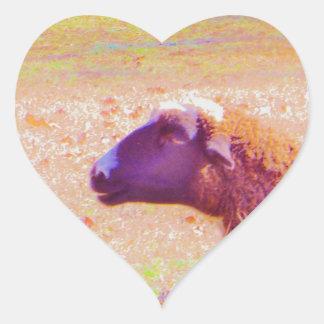 Pastel Rainbow Sheep Heart Sticker