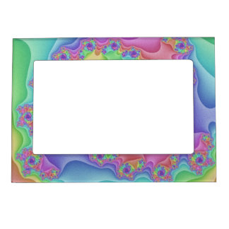 Pastel Rainbow Spiral Picture Frame
