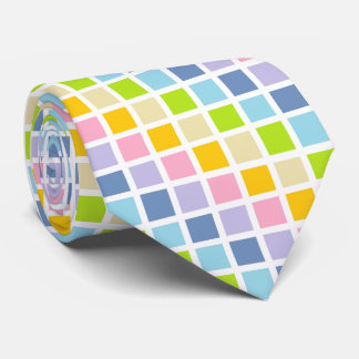 Pastel Rainbow Squares Tie