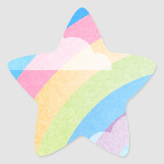 Pastel Rainbow Star Sticker