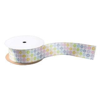 Pastel Rainbow Static Circles Satin Ribbon