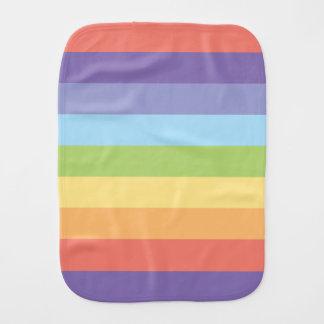 Pastel rainbow stripes Gay Pride Burp Cloth