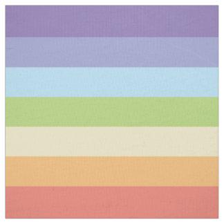 Pastel rainbow stripes Gay Pride Fabric