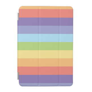 Pastel rainbow stripes Gay Pride iPad Mini Cover