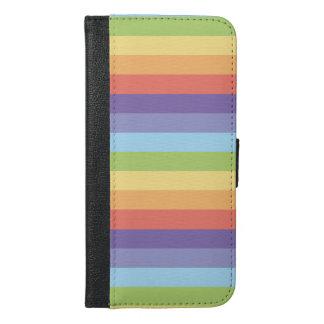 Pastel rainbow stripes Gay Pride iPhone 6/6s Plus Wallet Case