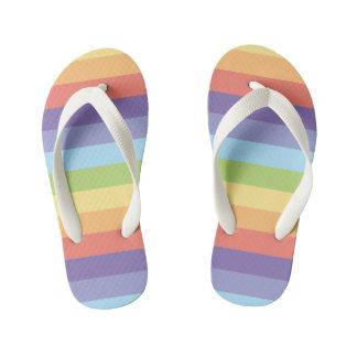 Pastel rainbow stripes Gay Pride Kid's Thongs