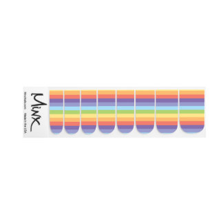 Pastel rainbow stripes Gay Pride Minx Nail Art