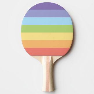 Pastel rainbow stripes Gay Pride Ping Pong Paddle