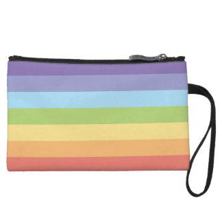 Pastel rainbow stripes Gay Pride Wristlet