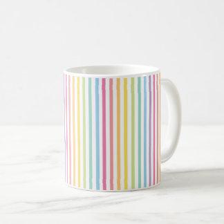 Pastel Rainbow Stripes Pattern Coffee Mug